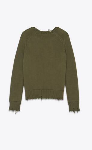 strickpullover in destroyed-optik