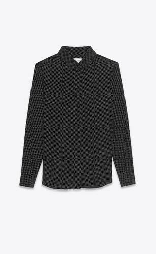 classic shirt in dotted silk
