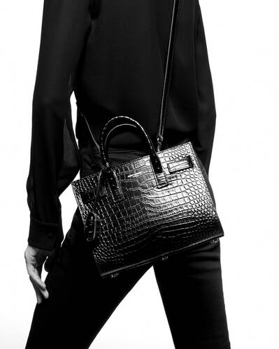 classic sac de jour nano in crocodile  embossed matte leather