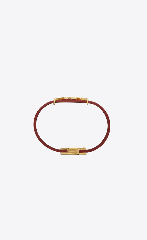 opyum bracelet in leather and metal