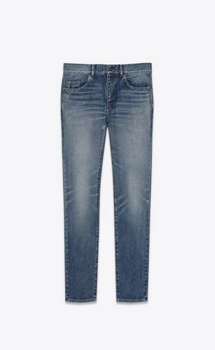 skinny-fit jeans in dirty 90's vintage blue denim