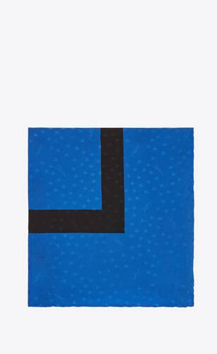 dotted monogram large square scarf in silk satin jacquard