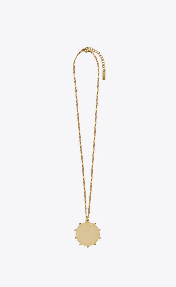 opyum anchor medallion pendant necklace in metal