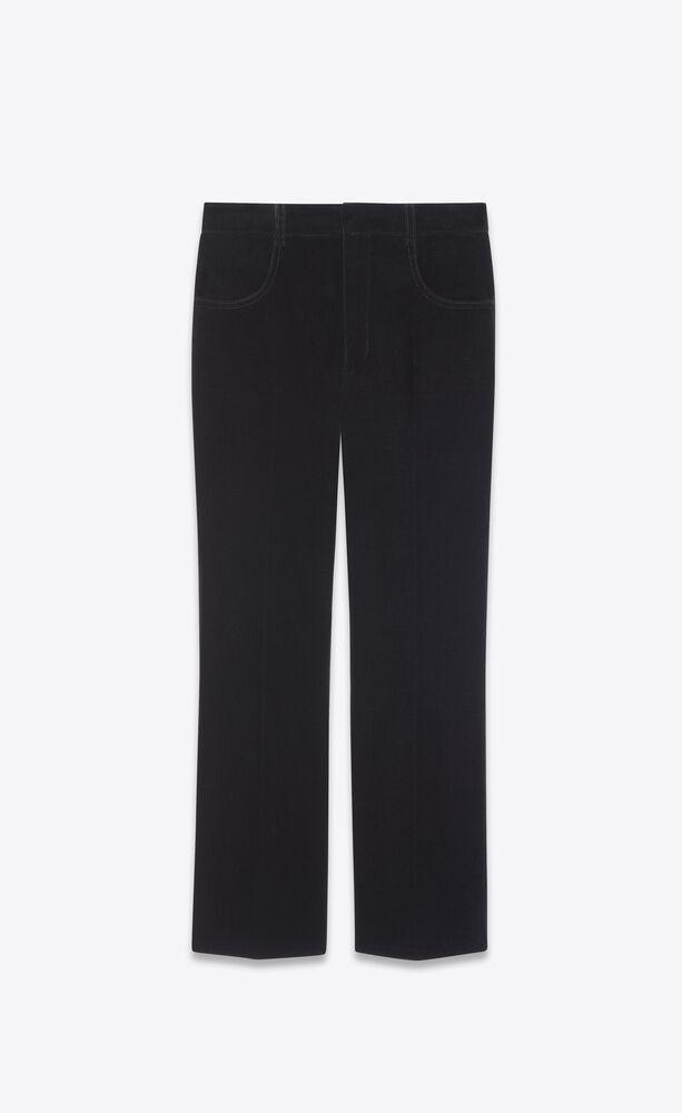cropped flared pants in velvet