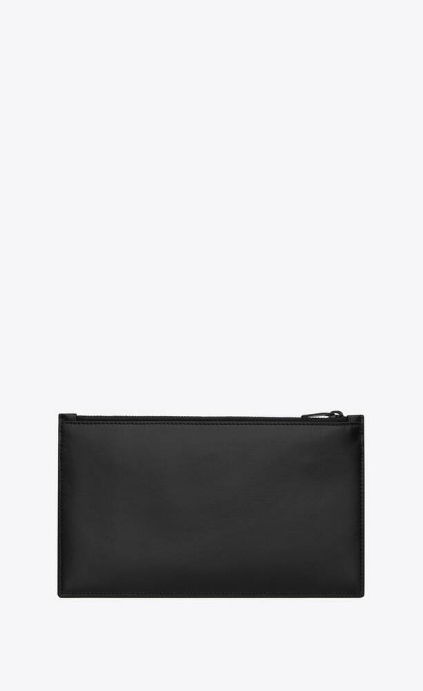 tiny monogram bill pouch in matte leather