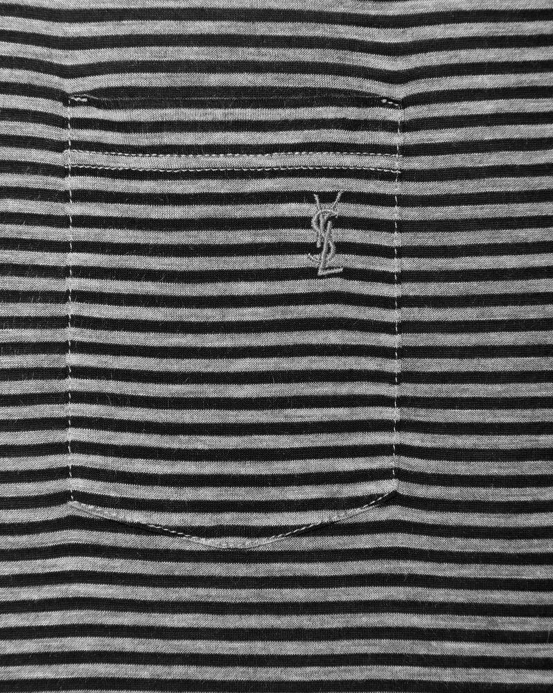striped monogram t-shirt in jersey