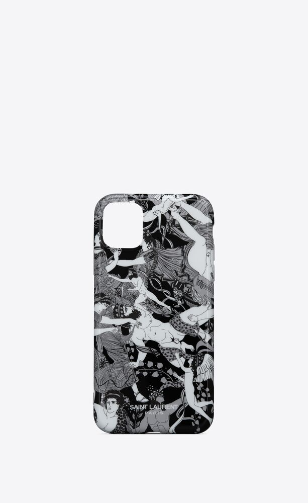 """iphone 12 pro max case in """"scandal"""" printed silicone"""