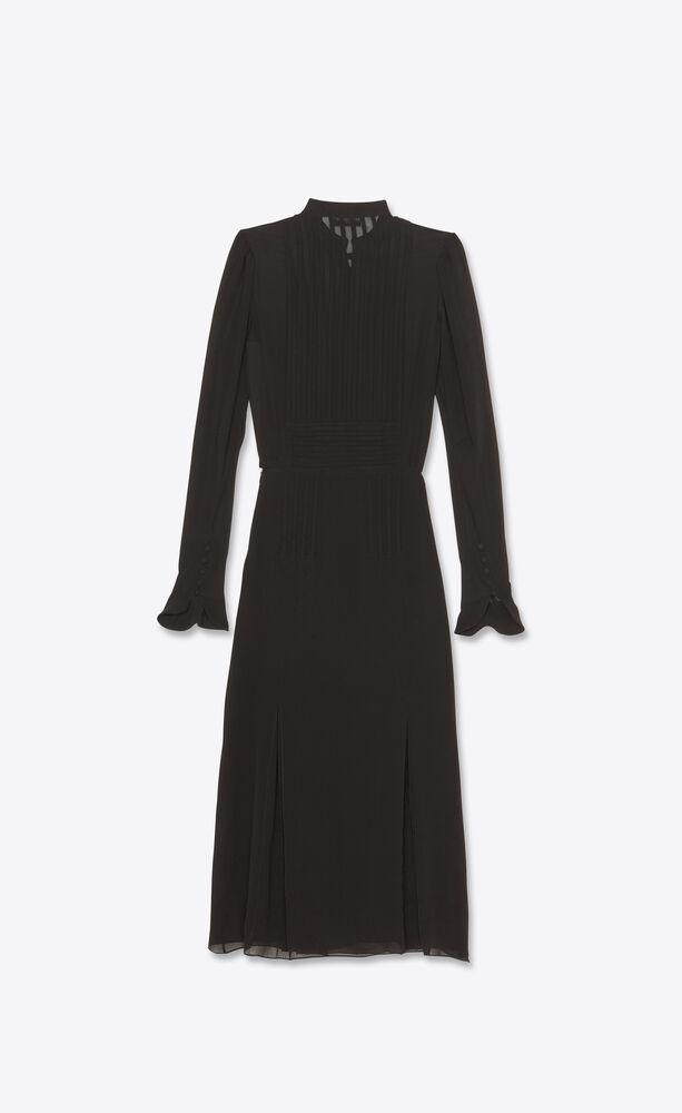 long dress in washed silk georgette