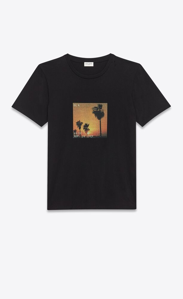 vhs sunset t-shirt