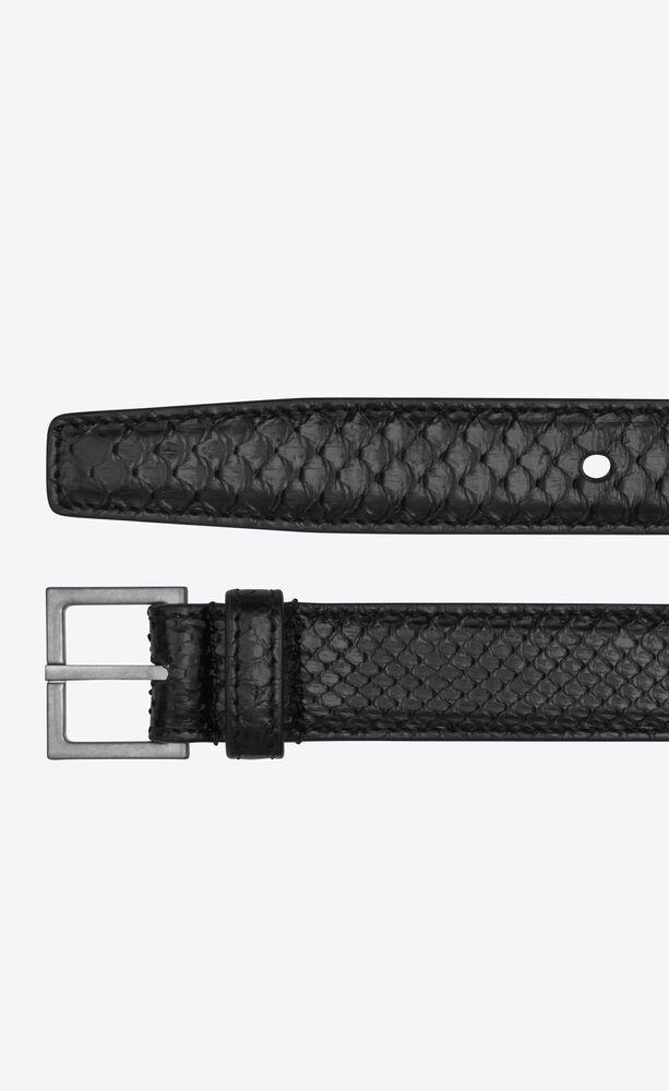 monogramme sac ceinture en forme de cœur en cuir embossé façon python