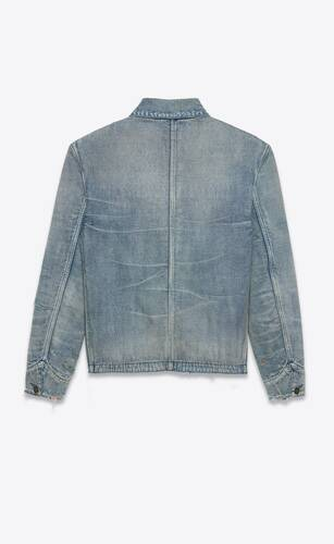 veste 50's en denim sun dirty blue