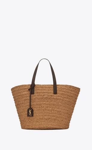 panier medium bag in raffia