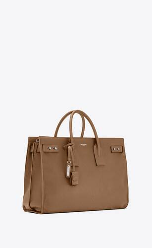 sac de jour thin large bag in grained leather
