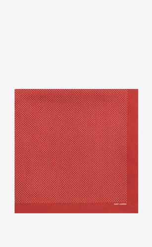 dotted square scarf in silk twill