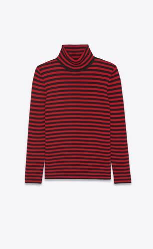 turtleneck sweater in striped wool