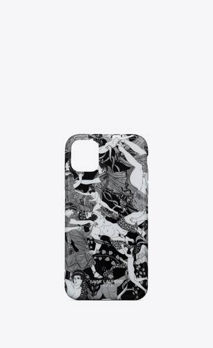 "iphone 11 pro max case in ""scandal"" printed silicone"