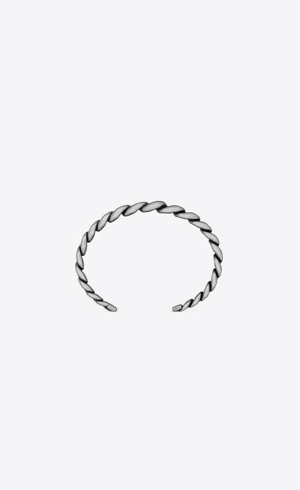 gradient cuff bracelet in metal