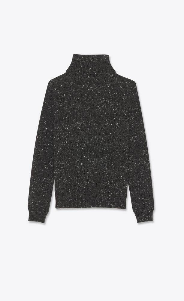 turtleneck sweater in flecked wool and cashmere