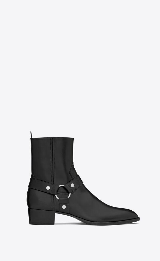 wyatt harness boots en cuir lisse