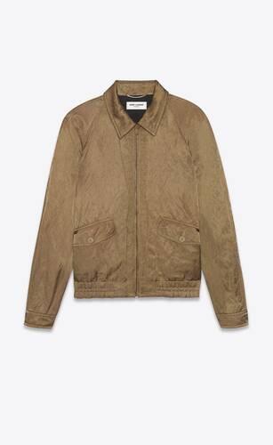 chaqueta raglán con cremallera de satén metálico