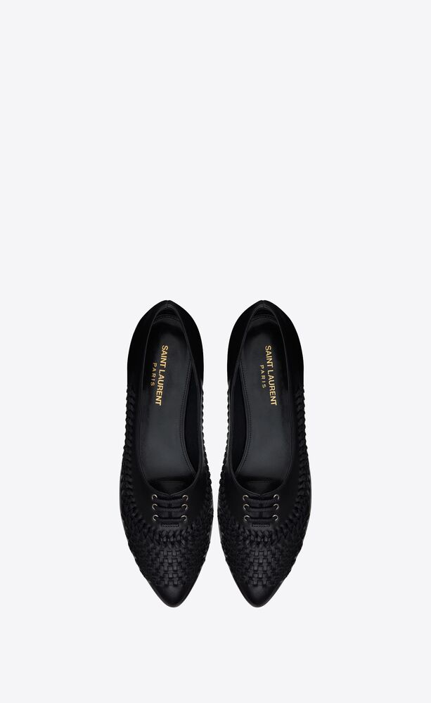 nina ballet flats in smooth leather