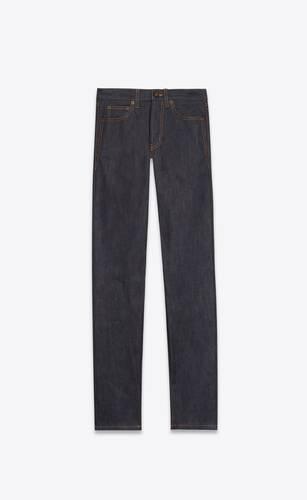 slim-fit jeans in indigo raw denim