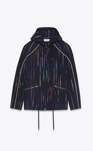 tie-dye windbreaker in crinkled polyamide
