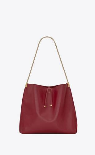 bolso estilo hobo suzanne medium de piel lisa
