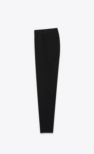 skinny pants in saint laurent gabardine