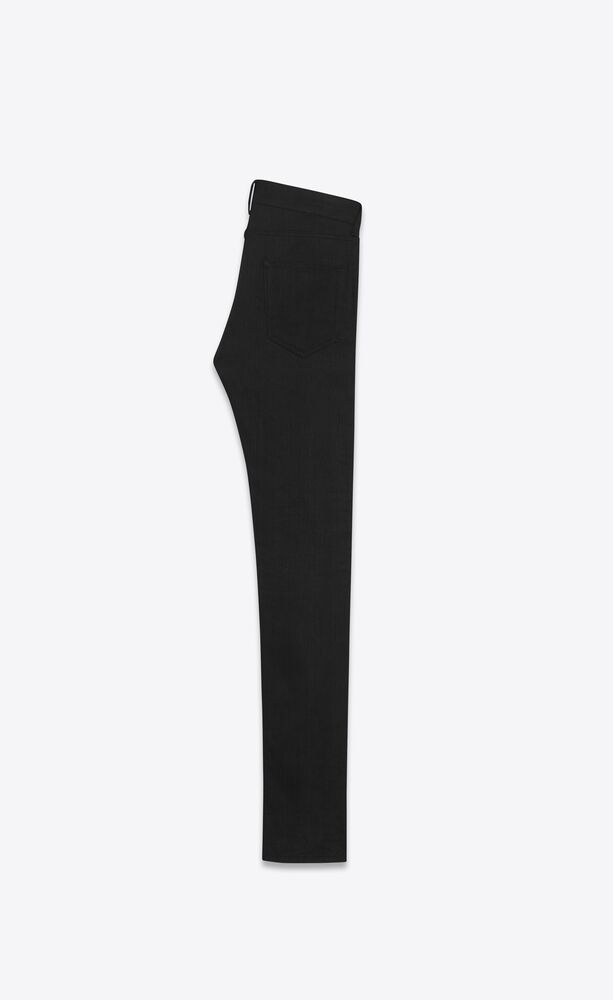 skinny-fit jeans in worn black stretch denim