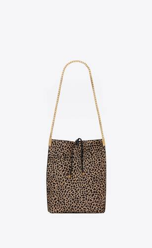 suzanne small hobo bag in giraffe-print pony-effect leather