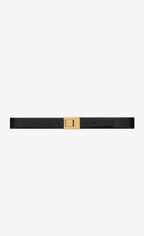 saint laurent square buckle belt in smooth leather
