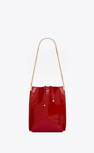 suzanne small shopping bag en cuir verni