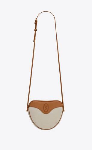 monogramme cœur bag in canvas and vintage leather