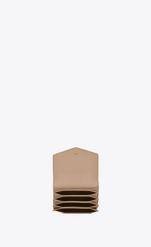 uptown business-card case in grain de poudre embossed leather
