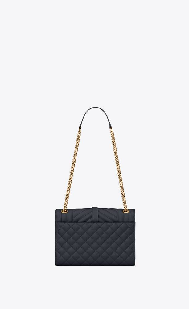 envelope medium bag in grain de poudre embossed leather
