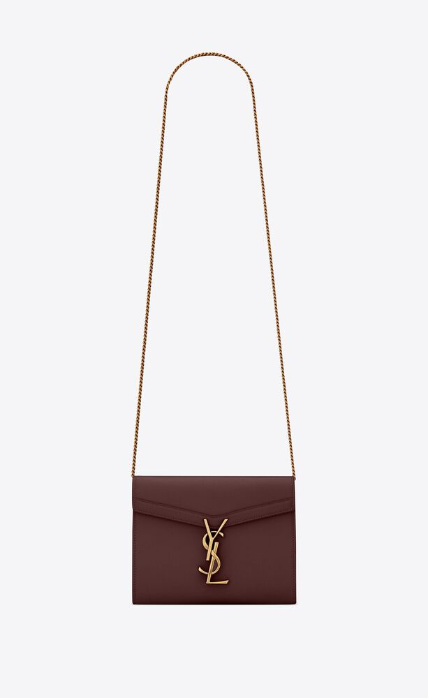 cassandra chain wallet in grain de poudre embossed leather