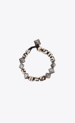 marrakech seashell bead bracelet in resin and metal