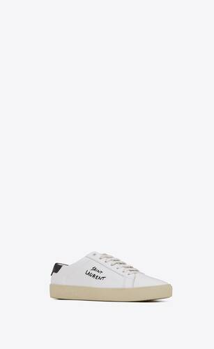 court classic sl/06 embroidered sneakers in leather