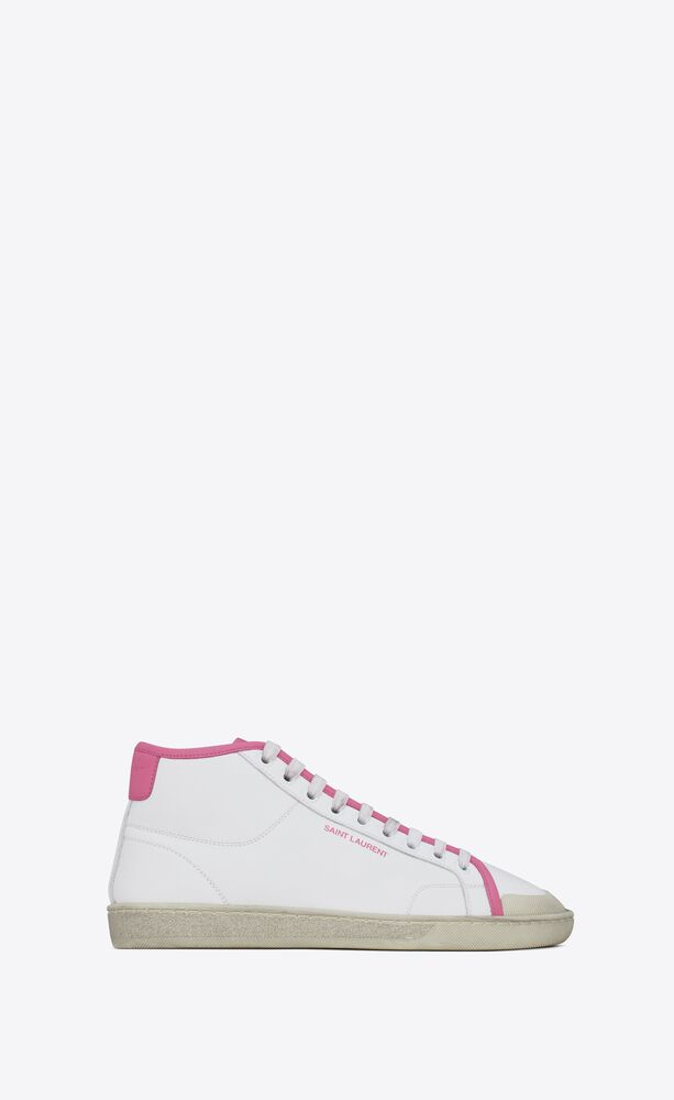 court classic sl/39 mid-top sneakers in smooth leather