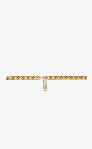 saint laurent curb chain link belt in metal