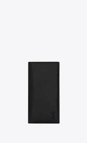 tiny monogram portefeuille continental en cuir mat