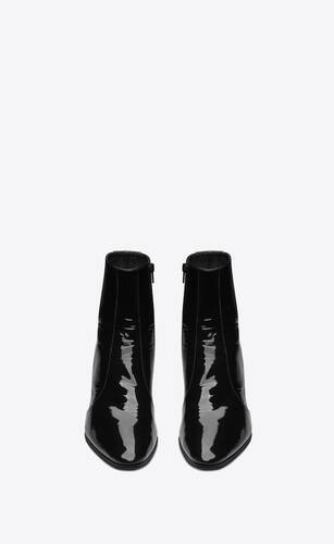 vassili zipped boots in patent leather