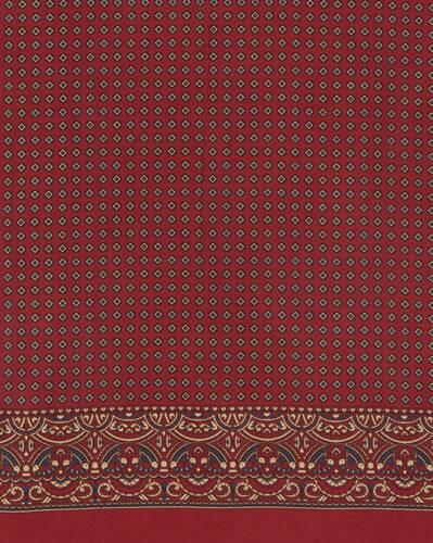 geometric-print scarf in silk twill