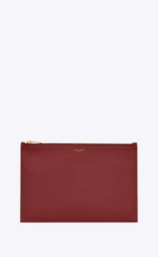 pochette saint laurent paris large de piel mate