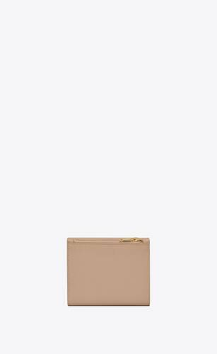 uptown compact wallet in grain de poudre embossed leather