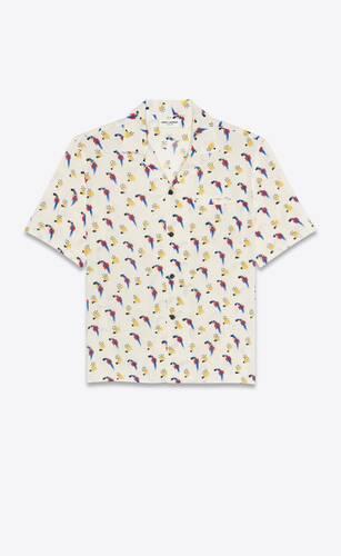 "shark-collar shirt in ""coup de pinceau"" print"