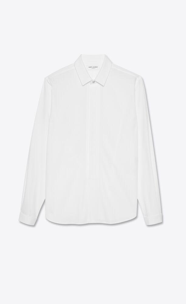 hemd mit plastron aus baumwoll-popeline