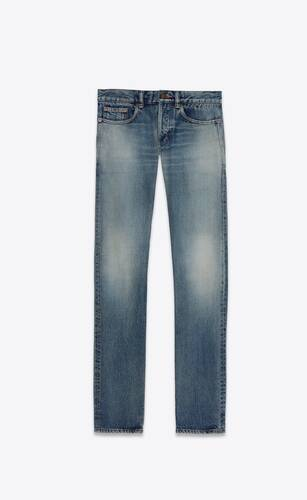 slim-fit jeans in indigo sky blue denim