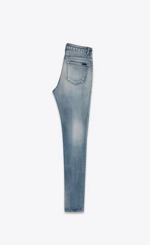 skinny-fit jeans in bright blue denim
